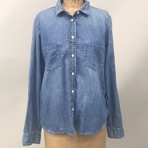 J Crew Chambray Button Up Shirt